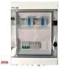 Skrzynka przyłączeniowa AC/DC, 2MPPT, DC 2xT1+T2-isk+gaz, 2x bezp+podst, AC 1xT1+T2-3F, AC wył nadprądowy 20A -3F